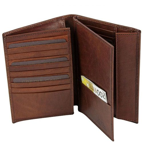Бумажник The Bridge Story Uomo из кожа коричневого цвета, фото