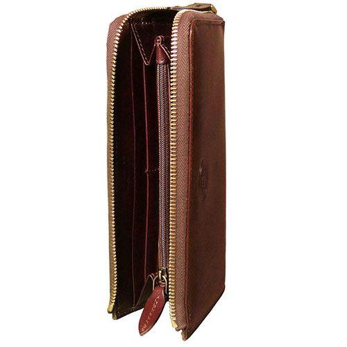 Женское кожаное портмоне The Bridge Story Donna на молнии коричневое, фото