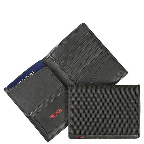 Черное портмоне Tumi Alpha с отделением для документов, фото
