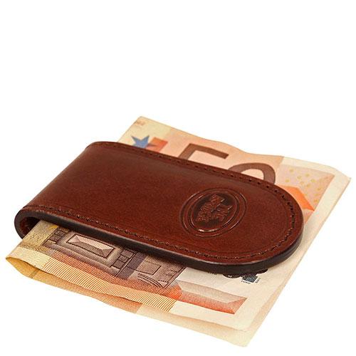 Зажим для банкнот The Bridge Story Uomo коричневый, фото