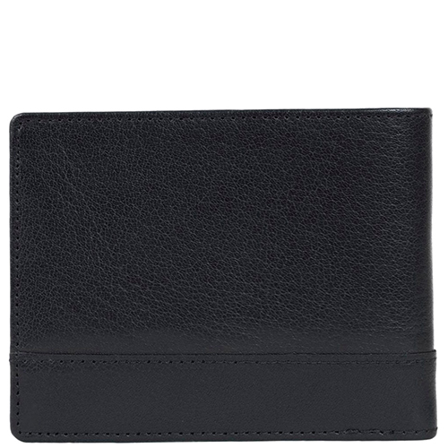 Горизонтальное портмоне Spikes&Sparrow черного цвета, фото