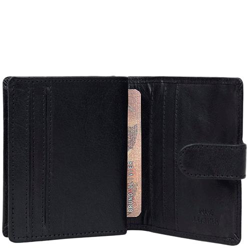 Портмоне Spikes&Sparrow черного цвета с наружным карманом, фото