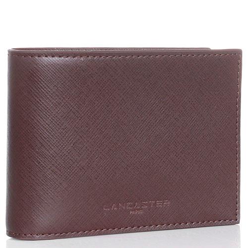 Коричневое портмоне Lancaster из кожи с тиснением сафьяно, фото