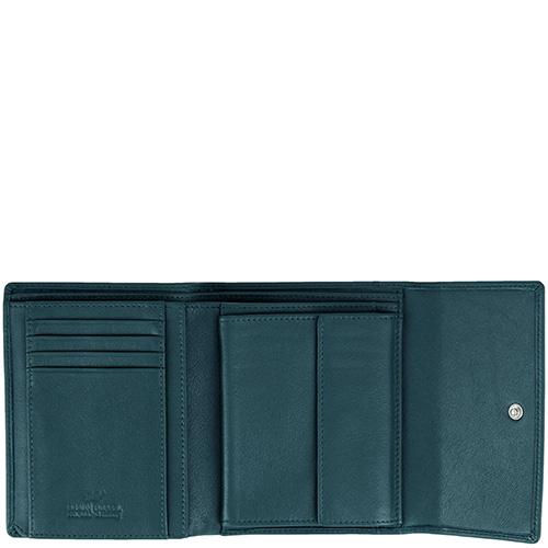 Зеленое портмоне Braun Bueffel Safari с монетницей, фото