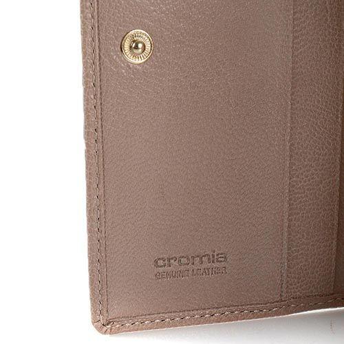 Женское портмоне Cromia Achela кожаное бежевое на кнопке, фото