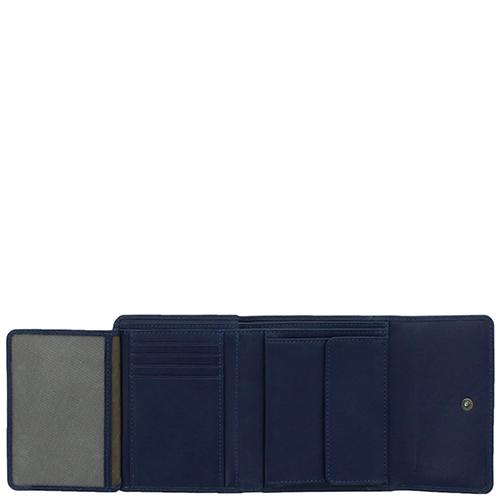 Портмоне Braun Bueffel Soave темно-синего цвета, фото