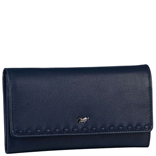Синий кошелек Braun Bueffel Soave на кнопке, фото