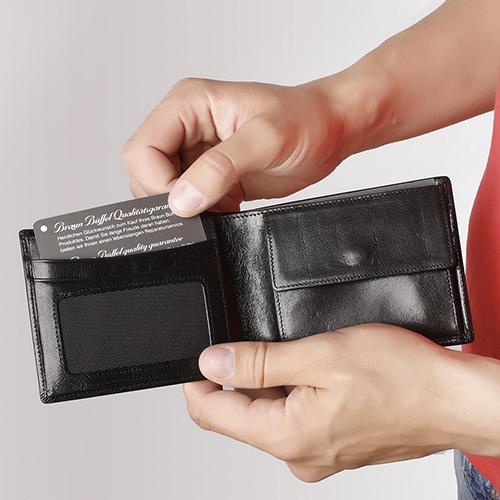 Портмоне черное Braun Bueffel Basic Gaucho из гладкой кожи, фото