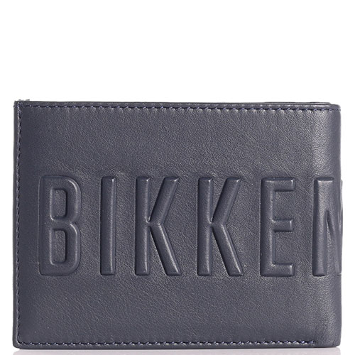 Портмоне синего цвета Bikkembergs с рельефным лого, фото