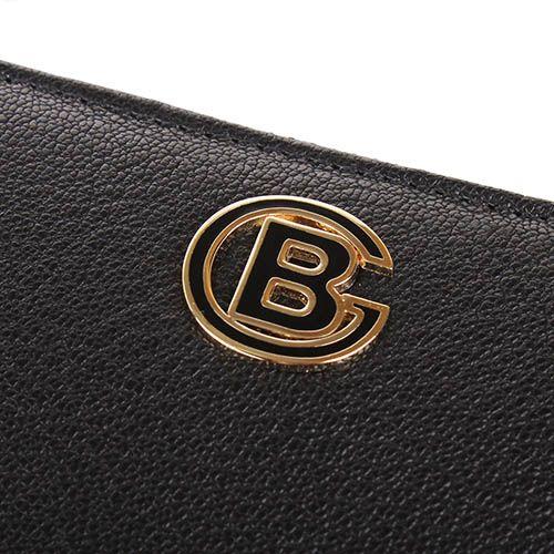 Портмоне Baldinini черного цвета на молнии с металлическим логотипом, фото