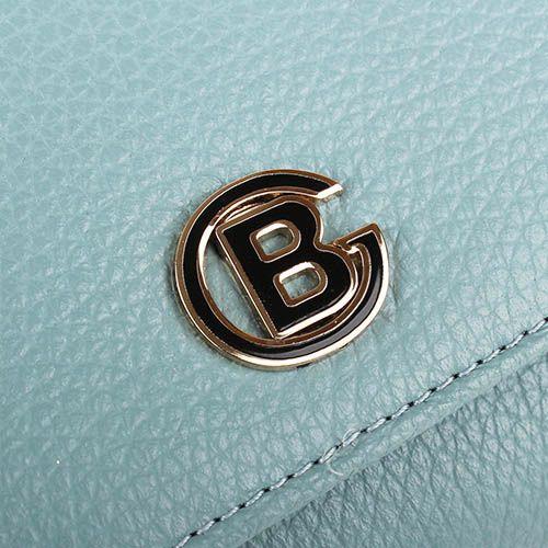 Горизонтальное портмоне Baldinini из кожи небесного оттенка, фото