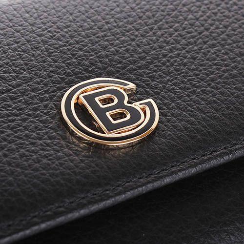 Портмоне Baldinini черного цвета закрывается на кнопку, фото