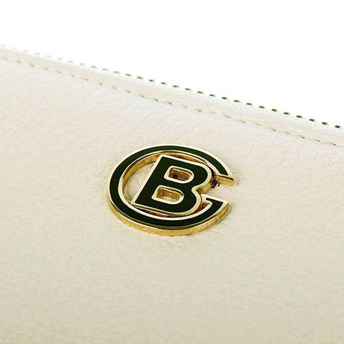 Портмоне Baldinini бежевого цвета на молнии с металлическим логотипом, фото