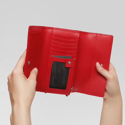 Красный кошелек Braun Bueffel Miami с задним карманом, фото