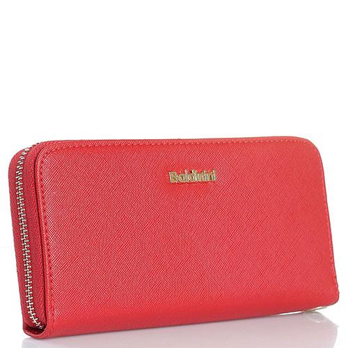 Красный женский кошелек Baldinini с золотистой шильдой, фото