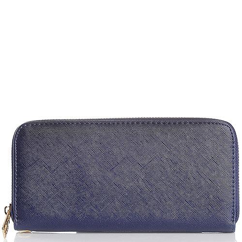 Женский кошелек Baldinini синего цвета на молнии, фото