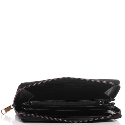 Черный кошелек Gucci Print с лого бренда, фото