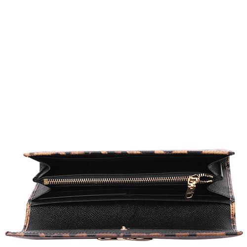 Кожаный кошелек Dolce&Gabbana с животным принтом, фото
