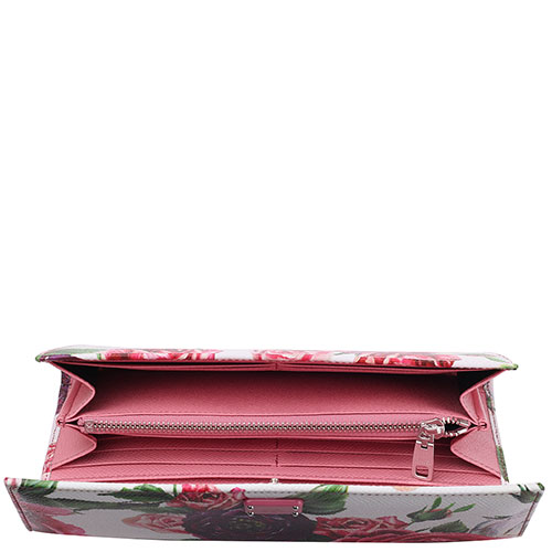 Кошелек из фактурной кожи Dolce&Gabbana с флористическим принтом, фото