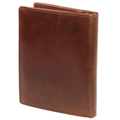 Вертикальное портмоне Braun Bueffel Arezzo коричневого цвета, фото