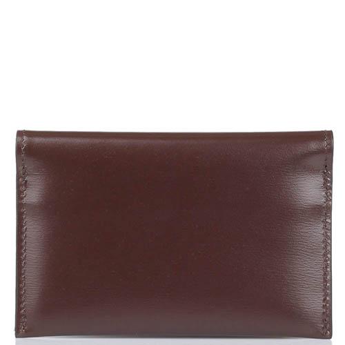 Компактный кардхолдер Savoia из натуральной коричневой кожи, фото