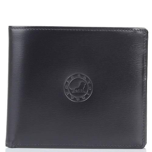 Черное горизонтальное портмоне Savoia из кожи, фото
