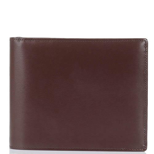 Горизонтальное вместительное портмоне Savoia из коричневой кожи, фото