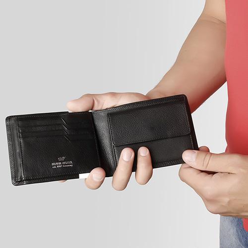 Черное портмоне Braun Bueffel Golf Secure с отделением для монет, фото
