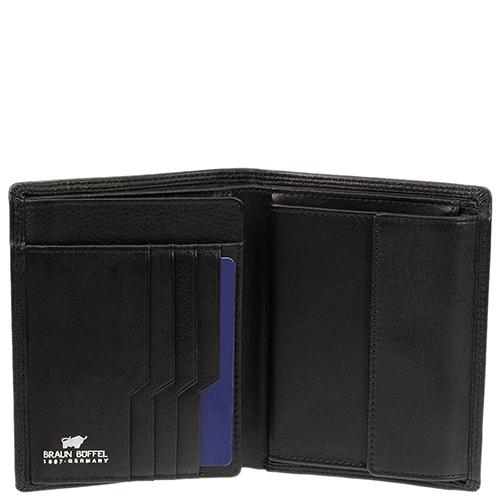 Вертикальное портмоне Braun Bueffel Golf Secure черного цвета, фото