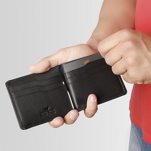 Портмоне с зажимом Braun Bueffel Golf 2.0 черного цвета, фото