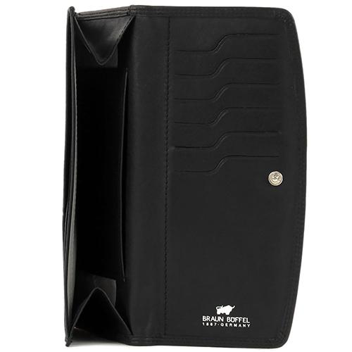 Портмоне черного цвета Braun Bueffel Golf на кнопке, фото