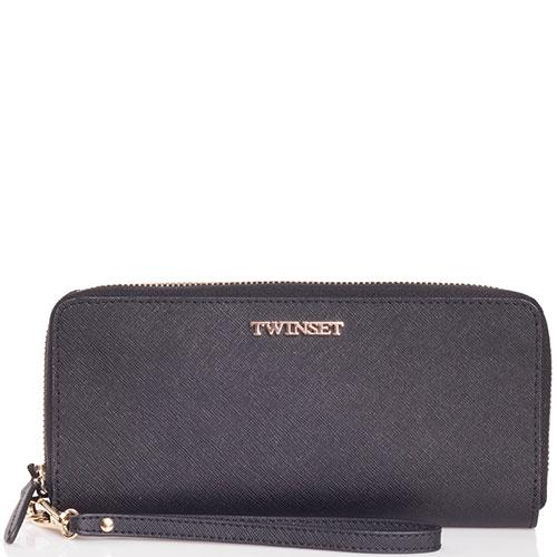 Черный кошелек Twin-Set с тиснением сафьяно, фото