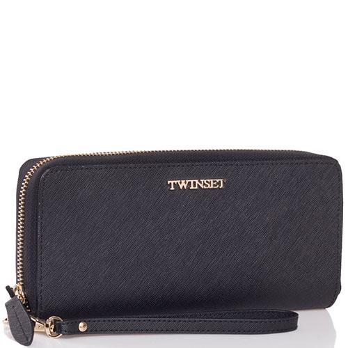 Черный кошелек Twin-Set Simona Barbieri с тиснением сафьяно, фото