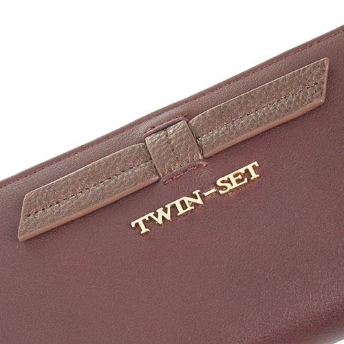 Кошелек Twin-Set бордового цвета на молнии, фото