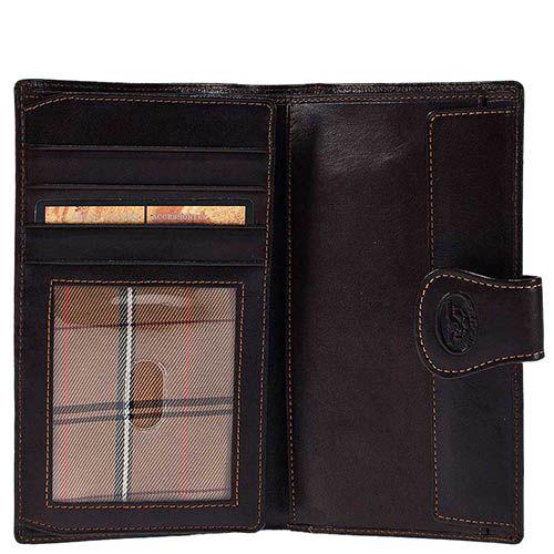 Вместительное вертикальное портмоне Tony Perotti Accademia из коричневой кожи на кнопке, фото