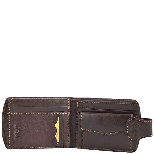 Коричневое дизайнерское портмоне Tony Perotti Accademia из натуральной кожи, фото