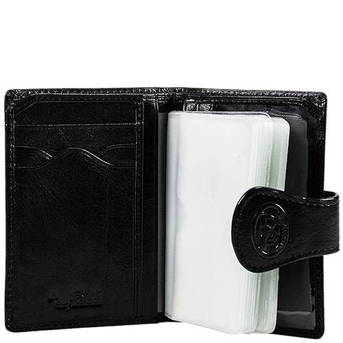 Вместительный тревеллер-портмоне Tony Perotti Accademia из черной кожи, фото