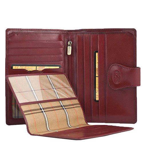 Красное портмоне Tony Perotti Accademia из кожи на застежке со съемной обложкой на паспорт, фото