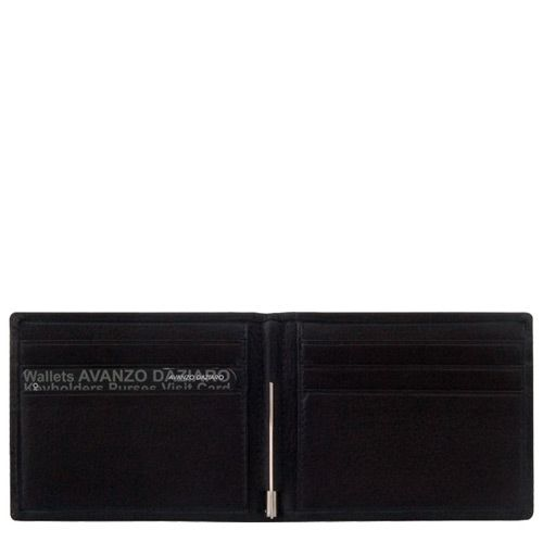 Портмоне Avanzo Daziaro Roma черное с зажимом для банкнот, фото