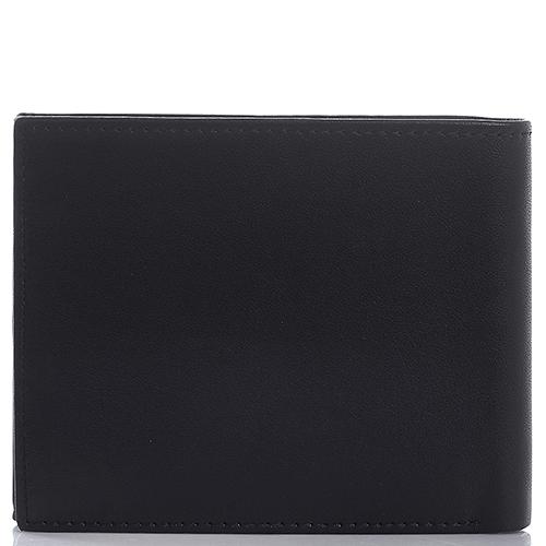 Черное портмоне Amo Accessori Verona из кожи с тиснением сафьяно, фото