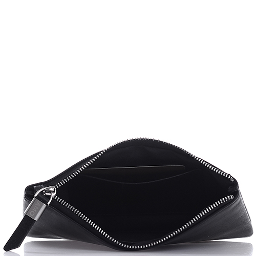 Черное портмоне Amo Accessori Verona на молнии, фото