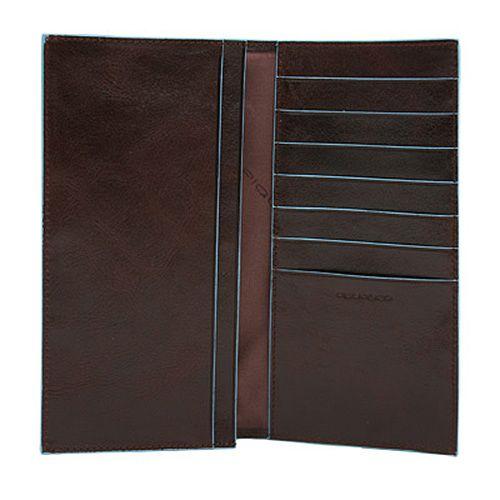 Портмоне Piquadro Blue Square коричневое вертикальное с отделениями для кредитных карт, фото