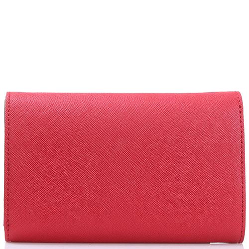Красный кошелек Twin-Set из кожи с тиснением сафьяно, фото