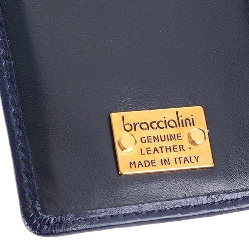 Портмоне Braccialini темно-синего цвета с аппликацией в виде цветка ромашки, фото