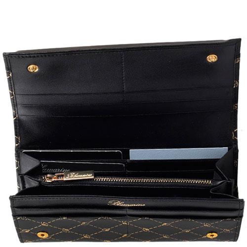 Черный кошелек Blumarine B Obsession с фирменным принтом, фото