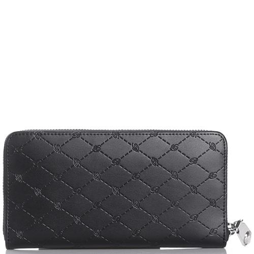 Черный кошелек Blumarine B Obsession с фирменным тиснением, фото