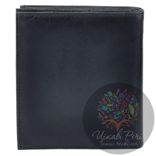 Портмоне Borsalino кожаное черное на 9 карт с необычной монетницей, фото