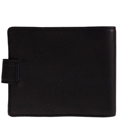 Классическое черное портмоне Tony Perotti Contatto из кожа на кнопке, фото