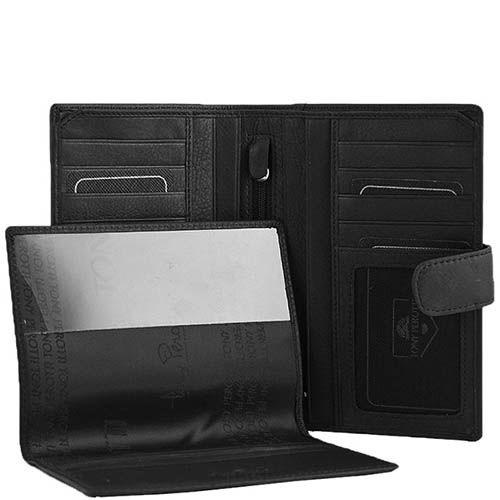 Большое вертикальное портмоне Tony Perotti Contatto на кнопке со съемной обложкой на паспорт, фото