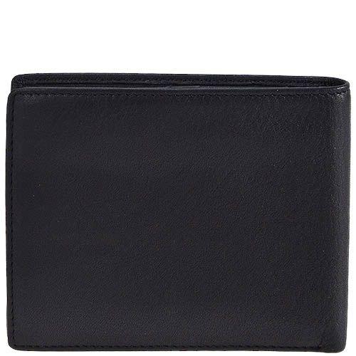 Горизонтальное черное портмоне Tony Perotti Contatto из зернистой кожи в фирменной упаковке, фото